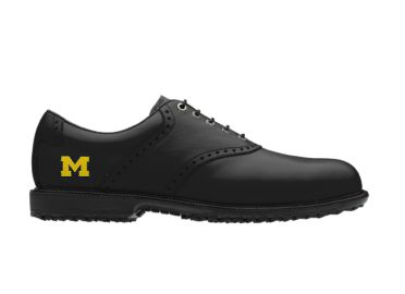 Michigan Wolverines golf shoes.